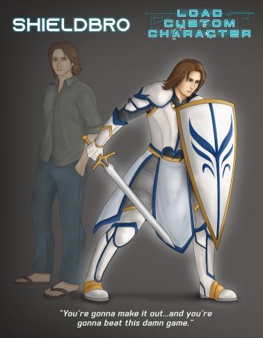 "ShieldBro - ""Load Custom Character"" Art (Author Tyler R. Lee)"